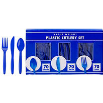 Royal Blue Cutlery Set 210pc