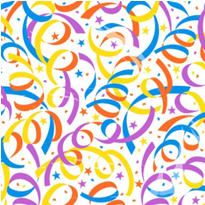 Party Streamers Cello Sheets 15ct