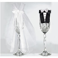 Bride and Groom Wedding Stem Wear
