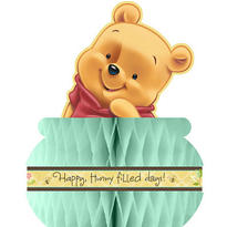 Pooh Baby Days Honeycomb Centerpiece 10 3/4in