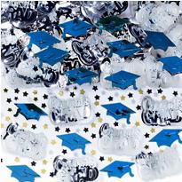 Metallic Royal Blue Graduation Confetti 2 1/2oz