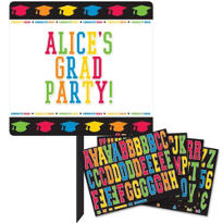 Personalized Graduation Yard Sign 14in x 15in