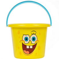 Plastic SpongeBob SquarePants Easter Bucket 7 1/2in