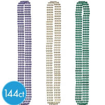 Globe Mardi Gras Bead Necklaces 30in 144ct