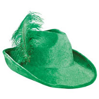Feather Plumed St. Patricks Day Hat