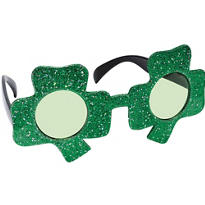 Glitter St. Patricks Day Shamrock Sunglasses