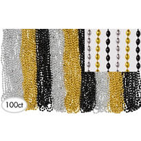 New Years Beads Bucket 32in 120ct