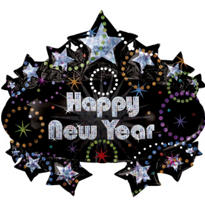Foil Marquee New Years Balloon 28in
