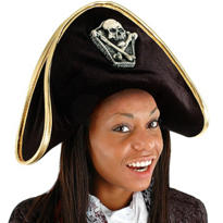 Black Velvet Pirate Hat