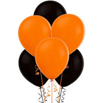 Orange and Black Balloons 15ct