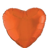 Foil Orange Heart Balloon 18in