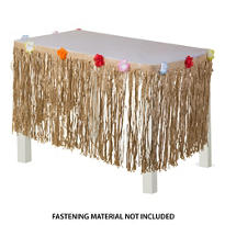 Natural Tissue Table Skirt 10ft