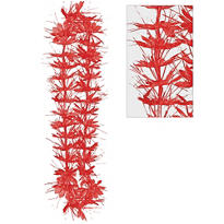 Red Tinsel Lei 40in