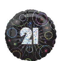 21st Birthday Balloon - Prismatic A Time to Party