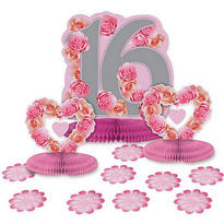 Sweet 16 Blossom Table Decorating Kit 15pc