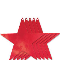 Red Star Cutouts 12in 5ct