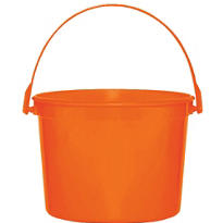 Orange Plastic Bucket 6 1/4in