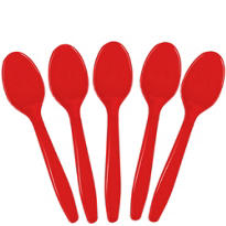 Value Red Plastic Spoons 20ct