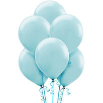 Powder Blue Latex Balloons 12in 15ct