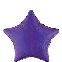 Foil Prismatic Purple Star Balloon 19in
