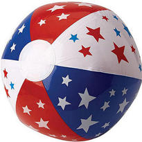 Stars & Stripes Beach Ball 13in