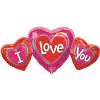 Foil I Love You Valentines Day Balloon 26in