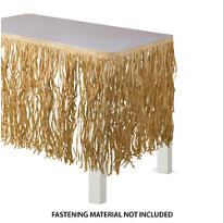 Natural Paper Raffia Table Skirt 9ft