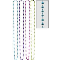 Jewel Tone Diamond Bead Necklaces 60in 4ct