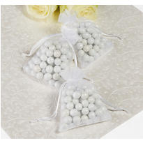 White Organza Wedding Favor Bags 24ct