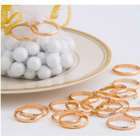 Gold Wedding Band Favor Charms