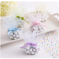 Multicolor Tulle Baby Shower Favor Circles 24ct