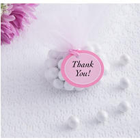 Pink Baby Shower Favor Tags 24ct
