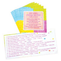 Napkin Trivia Baby Shower Game