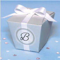 Silver Elegant Box Wedding Favor Kit 50ct