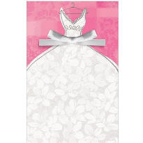 Bridal Gown Printable Bridal Shower Invitations 12ct