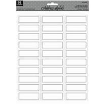 Silver Printable Address Labels 90ct
