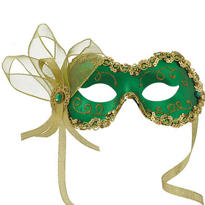 Green Angelina Masquerade Mask