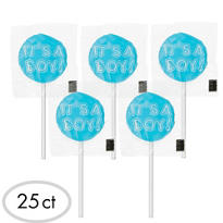 It's a Boy Lollipops Baby Shower Favor Candy 25ct