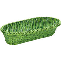 Green Rectangular Serving Basket 15in
