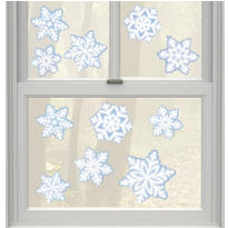 Snowflake Vinyl Window Decorations 11ct