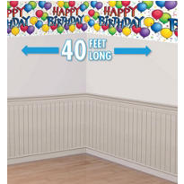 Balloon Fun Happy Birthday Banner Roll 50ft