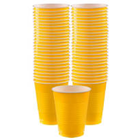 Sunshine Yellow Plastic Cups 16oz 50ct
