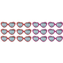 Heart Glitter Valentines Day Sunglasses 12ct<span class=messagesale><br><b>67¢ per piece!</b></br></span>
