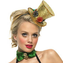 Mini Lady Luck Glitter Top Hat