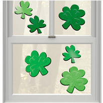 St. Patricks Day Small Gel Clings 6ct