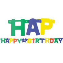 Primary Happy Birthday Letter Banner 4ft