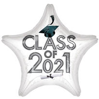 White Class of 2015 Star Graduation Balloon