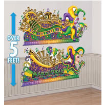 Mardi Gras Parade Float Banners 5 1/2ft 2ct