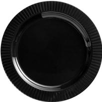 Black Premium Plastic Dinner Plates 16ct