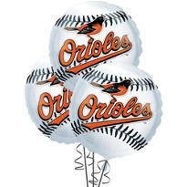 Baltimore Orioles Balloons 18in 3ct
